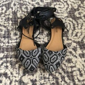 Fun black and white shoes